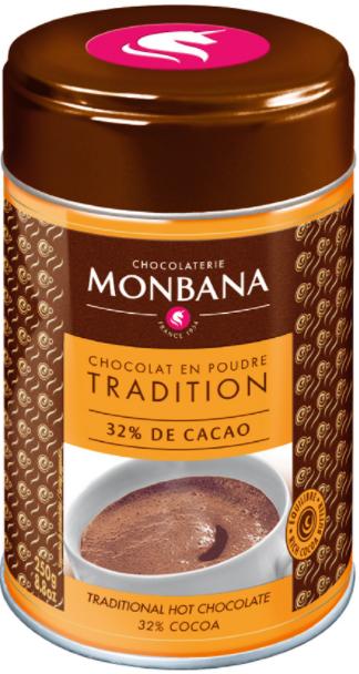 Chokladpulver ´salon De Thé´ Monbana Chocolaterie 3x250g