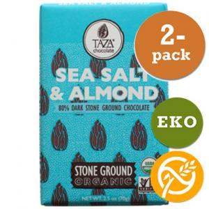 Choklad 80% Sea Salt & Almond 2x70g Taza Chocolate