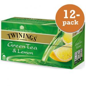 Grönt Te Med Citron Twinings 12x50g