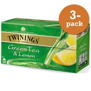 Grönt Te Med Citron Twinings 3x50g