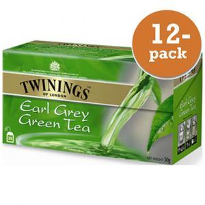 Grönt Te Earl Grey Twinings 12x50g