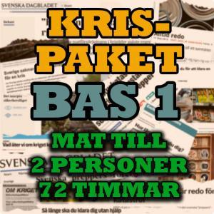 Krispaket Bas 1 för 2st personer i 72 timmar