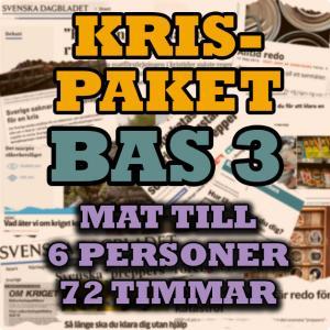 Krispaket Bas 3 för 6st personer i 72 timmar