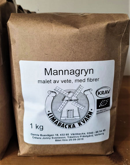 Mannagryn KRAV 12x1kg Limabacka Kvarn