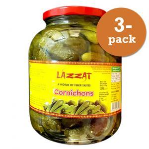 Cornichons 3x1348g Lazzat