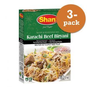 Karachi Beef Biryani 3x60g Shan