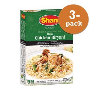 Malay Chicken Biryani 3x60g Shan