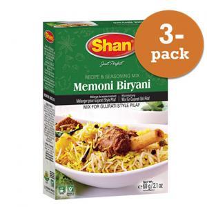 Memoni Mutton Biryani 3x60g Shan