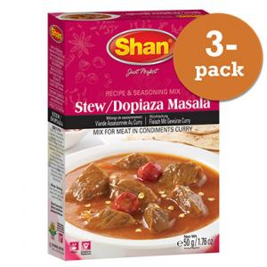 Dopiaza Stew Curry 3x50g Shan