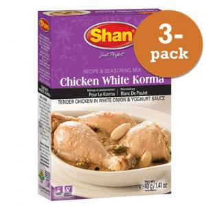 Chicken White Korma 3x50g Shan