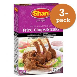Fried Chops Steaks 3x50g Shan