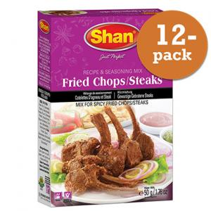 Fried Chops Steaks 12x50g Shan