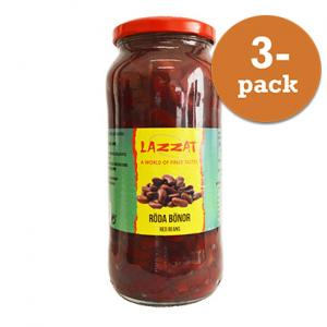 Röda Bönor i Glasburk 3x540g Lazzat