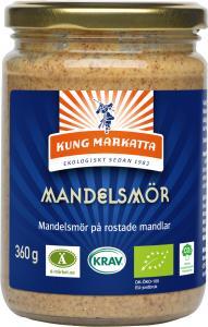 Mandelsmör KRAV 12x360g Kung Markatta