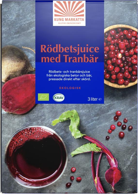 Juice Rödbeta & Tranbär KRAV 3liter Kung Markatta