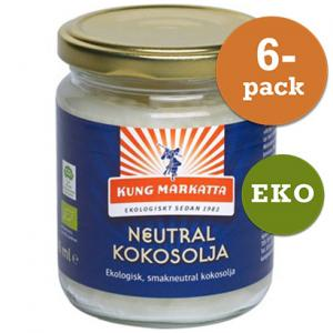 Kokosolja Neutral 6x216ml Eko Kung Markatta