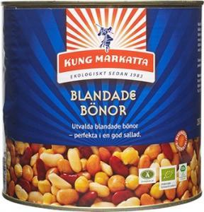 Bönor Blandade På Burk 2x2,6kg Eko Kung Markatta
