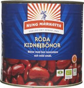 Kidneybönor Röda På Burk 2x2,6kg Eko Kung Markatta