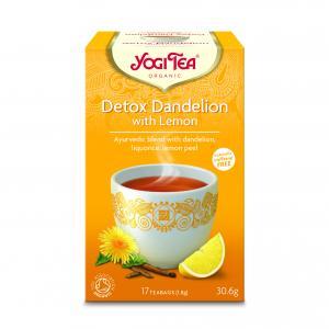 Detox Dandelion Lemon EKO 2x17påsar Yogi Tea