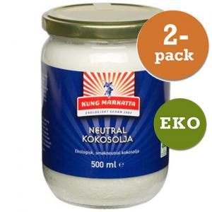 Kokosolja Neutral 2x500ml Eko Kung Markatta