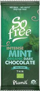 Mörk Choklad So Free Mint Eko 12x80g Plamil