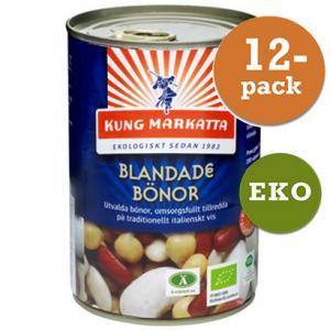 Bönor Blandade På Burk 12x400g Eko Kung Markatta