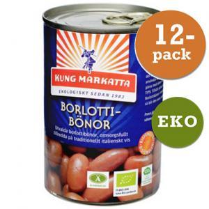 Borlottibönor 12x400g Eko Kung Markatta