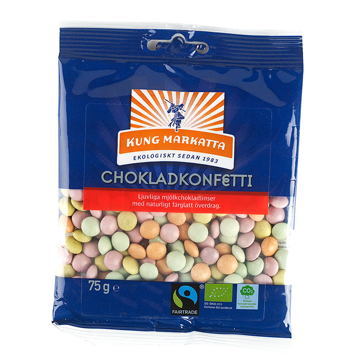 Chokladkonfetti EKO 3x75g Kung Markatta