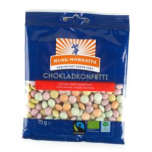 Chokladkonfetti EKO 12x75g Kung Markatta