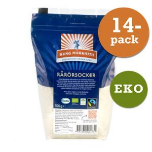 Rårörsocker 14x500g Fair Trade Kung Markatta