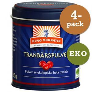 Tranbärspulver 4x65g Eko Kung Markatta