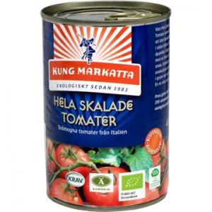 Tomater Hela Skalade 12x400g EKO Kung Markatta