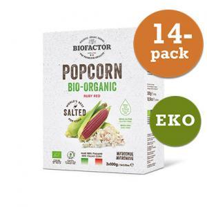 Popcorn Mikro Röd Eko 14x300g Biofactor