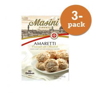 Amaretti Mandel 3x150g Masini