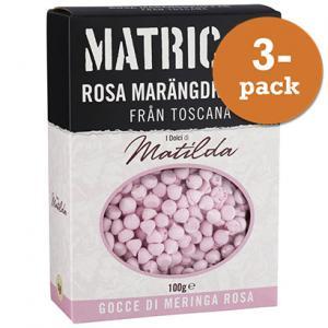 Marängdroppar Mini 3x100g Rosa Masini