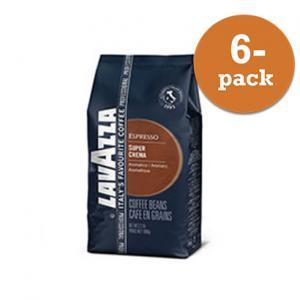 Kaffe Bönor Super Crema 6x1kg Lavazza