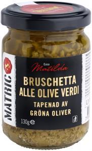 Bruschetta Gröna Oliver 3x130g Matric
