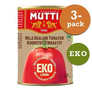 Tomater plommon hela skalade 3x400g KRAV Mutti