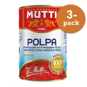 Tomater Polpa Finkrossade 3x4,05kg Mutti