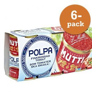 Tomater Polpa Finkrossade 6x400g Mutti