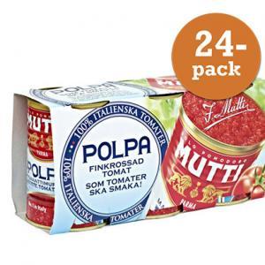 Tomater Polpa Finkrossade 24x400g Mutti
