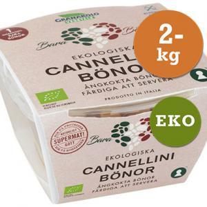 Ångkokta Cannellinibönor EKO 2x125g Granarolo