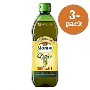 Olivolja Classico Squeeze 3x450ml Extraljungfru Monini