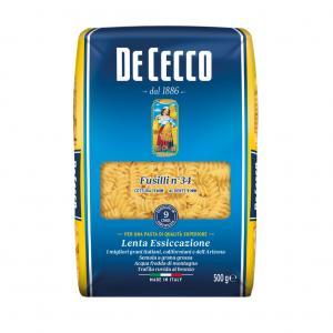 Pasta Fusilli Durum 3x500g De Cecco