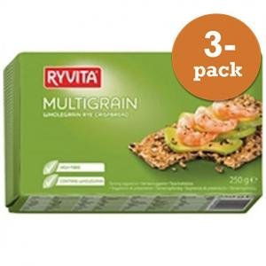 Multigrain Knäckebröd 3x250g Ryvita
