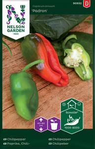 Chilipeppar Padron Premium Frö Nelson Garden
