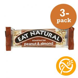 Blandade Nötter Bar GLUTENFRI 3x45g Eat Natural