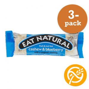 Blåbär & Yoghurt Bar GLUTENFRI 3x45g Eat Natural