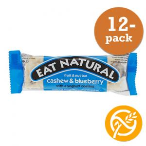 Blåbär & Yoghurt Bar GLUTENFRI 12x45g Eat Natural