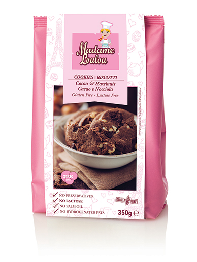 Choklad & Hasselnötskakor 6x350g Madame Loulou
